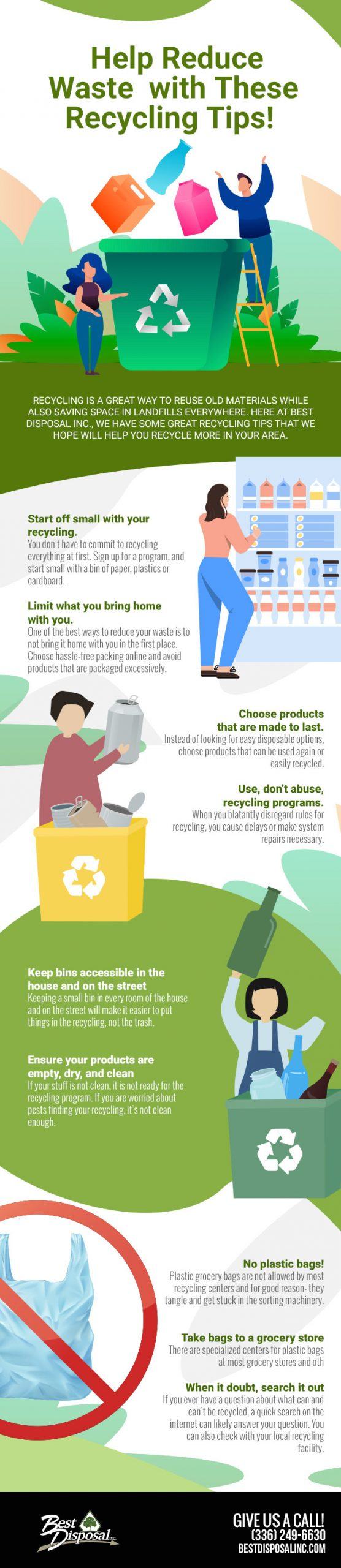 Help Reduce Waste with These Recycling Tips! [infographic]